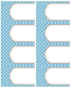 Printable Moroccan Tile Designed Labels | Worldlabel Blog