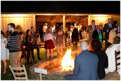 Wedding bon fire