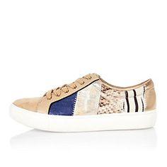 044b85d1a4cc9e Beige patchwork trainers Shoes 2016