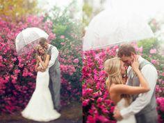 On a rainy wedding day