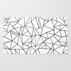 Abstract+Outline+Black+on+White+Rug+by+Project+M+-+$28.00