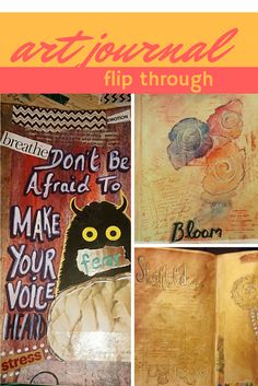Art Journal Flip Through - A mixture of collage, acrylic, watercolour and general mixed media. Kerrymay._.Makes