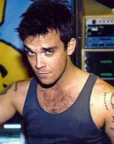 Robbie Williams - - hmmm - verry naughty look ; Stoke On Trent, Robbie Williams Take That, Antony Hegarty, Scissor Sisters, Village People, Billy Idol, Boy George, Robin Williams, George Michael