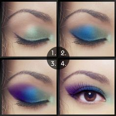 maquillaje tradicional o simple ojo del pavo real
