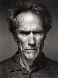 EASTWOOD  A powerful photo here of Clint Eastwood. Even in his older years he can carry his Dirty Harry image.