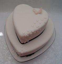 Cascading Hearts Wedding Cake | Flickr - Photo Sharing!