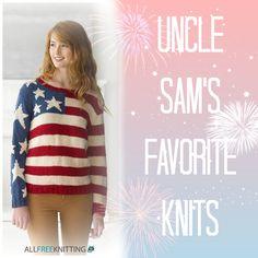 Uncle Sam's Favorite Knits: 14 Patriotic Free Knitting Patterns