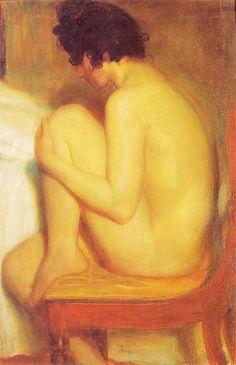 Wojciech Weiss - Włoszka (Akt), 1901