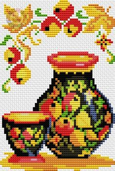 VK is the largest European social network with more than 100 million active users. Cross Stitch Kitchen, Cross Stitch Art, Cross Stitch Flowers, Cross Stitching, Cross Stitch Embroidery, Hand Embroidery, Cross Stitch Patterns, Blackwork, Needlepoint
