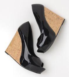peep toe preto - salto alto - high heels - black - anabela - summer - Verão 2016 - Ref. 15-9901