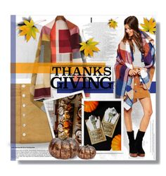 """""""Home for Thanksgiving"""" by mariamharrasova ❤ liked on Polyvore featuring Parisian and thanksgiving"""