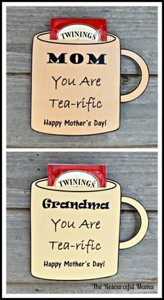 These free printable cards make the perfect mother's day gift for your tea loving mom or grandma.