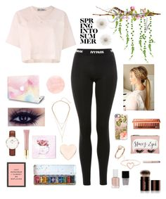 """""""Spring into summer 🌸"""" by ananyasharmad85 ❤ liked on Polyvore featuring adidas, Ivy Park, Daniel Wellington, AERIN, Oliver Gal Artist Co., Ted Baker, Casetify, Urban Decay, Accessorize and Love Is"""