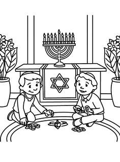 Hanukkah Crafts for Kids  transparent blue Star of David decoration