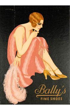 Bally Vintage Labels, Vintage Ads, Vintage Images, Vintage Posters, Vintage Dress, Vintage Style, Love Posters, Art Deco Posters, Retro Advertising