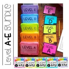 Reading Kits - KINDERGARTEN BUNDLE Levels A-E Guided Reading Levels, Guided Math, Easy Writing, Writing Ideas, Teaching Materials, Teaching Ideas, Teaching Resources, Special Education Activities, Speech And Language