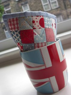 Mug rugs by flossyblossy, via Flickr