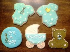 Baby Shower Decorated Cookies via #TheCookieCutterCompany