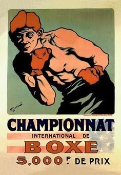 International Boxing Championship 20x30 poster