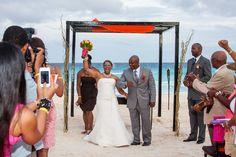 Beach wedding at Hard Rock Hotel #Cancun
