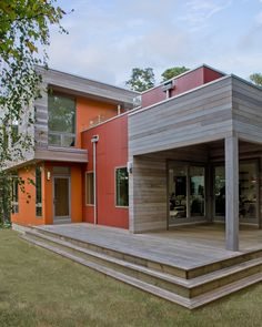 A second home turned modern energy efficient oasis done by Zero Energy Design. This home is LEED Gold certified.