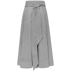 """Lisa Marie Fernandez Beach Skirt 1/9 - 1/4"""" gingham (2,965 CNY) ❤ liked on Polyvore featuring skirts, high waist belt, high-waisted skirts, high waisted skirts, high-waist skirt and button front skirt"""