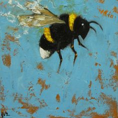 Print Bee 228 20x20 inch Print from oil painting by RozArt easy