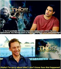 He apologizes for going to good schools. Oh, Tom.
