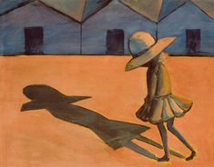 The Shadow, by Charles Blackman Tempera on cardboard. Heide Museum of Modern Art. Visual Thinking Strategies, Shadow Art, Naive Art, Australian Artists, Museum Of Modern Art, Art World, Art Education, Art Inspo, Contemporary Art
