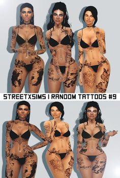 Sims 4 CC's - The Best: StreetxSims Random Tattoos
