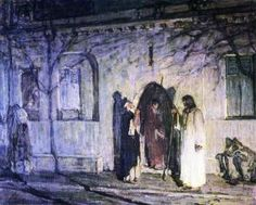 Christ With The Canaanite Woman And Her Daughter 1909 Acrylic Print by Tanner Henry Ossawa African American Artist, American Artists, Henry Ossawa Tanner, Bible Illustrations, Biblical Art, Art Database, Religious Art, Figure Painting, Beautiful Artwork