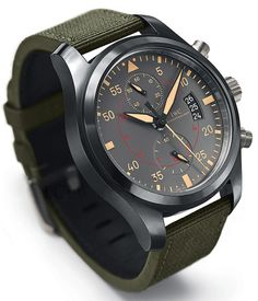 Watches Ideas IWC pilot chrono top gun miramar Discovred by : Todd Snyder Amazing Watches, Beautiful Watches, Cool Watches, Watches For Men, Iwc Watches, Army Watches, Top Gun, Dream Watches, Luxury Watches