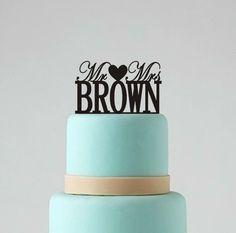 Mr+and+Mrs+Wedding+Cake+Topper++Custom+Cake+by+BestCakeTopperEver,+$19.00