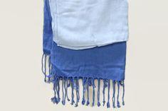 Charm Girls Navy Blue Scarf Soft cloth Shawl Long Pashmina India Made  Convertible International Pashmina  Ruffle Design Made in India   PH-2352620   Type: Small    Color : Navy blue light blue   wrap \ Convertible