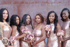 The Bridge Building Wedding | Bridesmaids | Bridesmaids Inspiration | Rose Gold