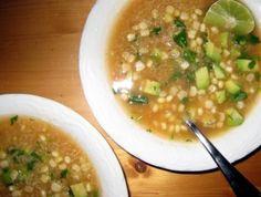 Quinoa Soup with Avocado and Corn