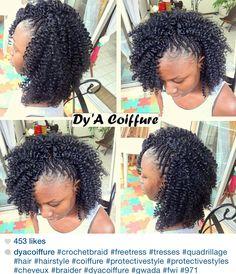 . Natural Protective Styles, Natural Styles, Black Girl Braids, Girls Braids, Natural Hairstyles, Weave Hairstyles, Braidless Crochet, Fishbone Braid, Curly Crochet Hair Styles