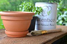 Wood&Crafts - kreatywne malowanie: Eggshell Versante. Ceramiczna doniczka w kilka min...