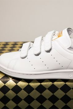 d207b57bdacf7 Fresh white kicks with a subtle dash of metallic goodness. Soletrader Shoes