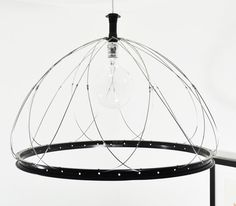 "26"" Dome Recycled Bike Parts Hanging Pendant Lamp"