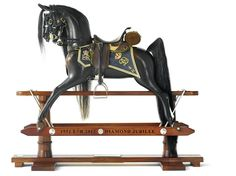 Seen at Chelsea Flower Show - the most opulent rocking horse made specially for the Queen's Diamond Jubilee by Stevenson Brothers to celebrate the Kent Company's 30th year - £12,000