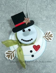 Tinker With Ink & Paper: Ornament #3: Tealight Snowman