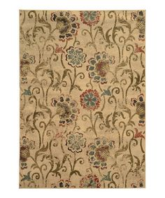 Take a look at this Ivory Chesapeake Faded Rug by Oriental Weavers on #zulily today!