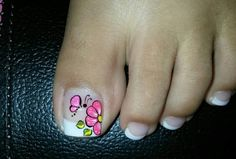 Pintados de pies French Pedicure, Manicure Y Pedicure, Cute Toes, Toe Nails, Nail Designs, Tattoos, Floral, Triangles, Grande