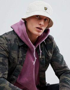 783ef6446d9 Lyle   Scott Bucket Hat In Light Stone