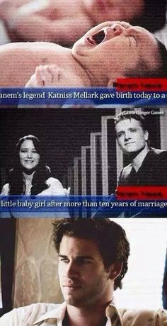 I feel bad for Gale and at the same time I'm fangirling harder than the people in the Capitol would if this was real... Everlark babies!!!
