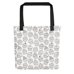 Tote Bags, Print Patterns, Cupcakes, Shop, Fabric, Tejido, Cupcake Cakes, Tela, Tote Bag