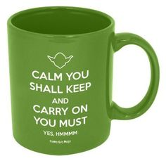 Because this just makes me happy every time I see it. :: Calm You Shall Keep Mug by Funny Guy Mugs