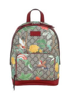 Our Closet Gucci Tian GG Supreme backpack. This fabulous Gucci Backpack is not only super practical, but also super stylish. Perfect for going handsfree at your next fun festival or event! Supreme Backpack, Red Backpack, Backpack Travel Bag, Floral Backpack, Small Backpack, Fashion Backpack, Rucksack Backpack, Brown Backpacks, Backpacks For Sale