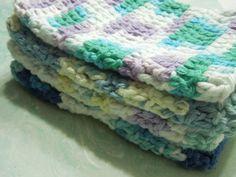 Pick One  MultiColored Hand Crochet Dishcloth by by MarlenesAttic, $2.50